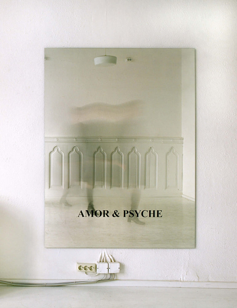 Katrin Gaßmann - Amor & Psyche 2008 Spiegel, rückseitig geätzt 160x120cm