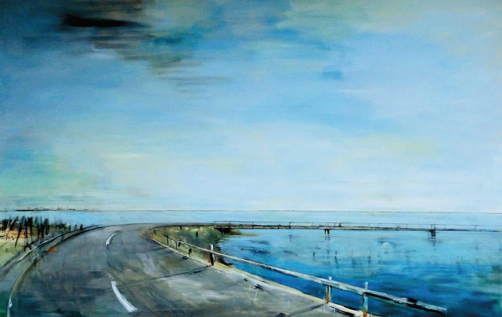 Sibylle Prange - Der Damm 2012 Öl auf Leinwand 110x170cm