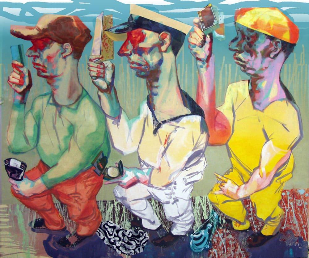Winfried Tilmann Alexander - Die heiligen drei Könige 2013-14 Acryl auf Leinwand 170x200cm