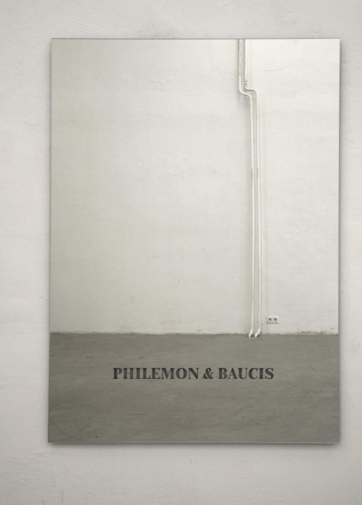 Katrin Gaßmann - Philemon & Baucis 2008 Spiegel, rückseitig geätzt 160x120cm