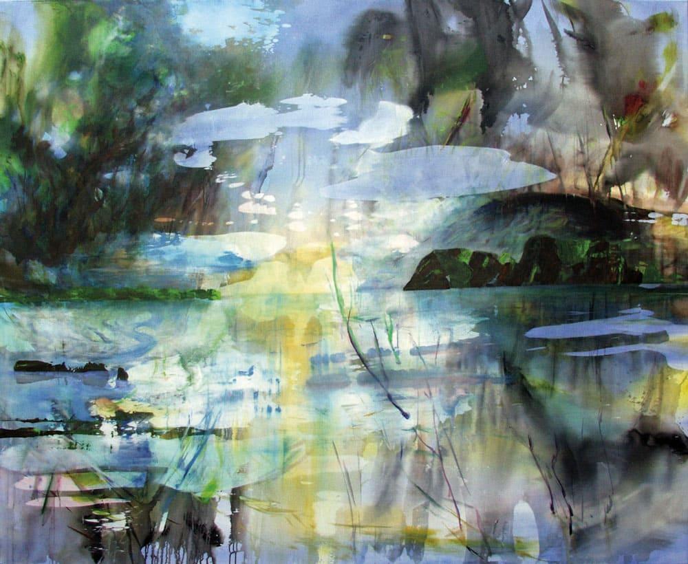 Kerstin Alexander - Schwebezustand 2018 Öl und Acryl auf Leinwand 190x230cm