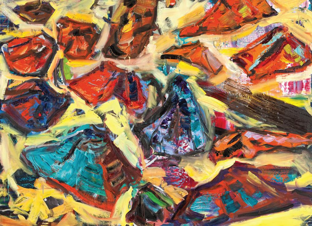 Henrik Pillwitz - TABLEAU 2012 Öl auf Leinwand 110x150cm