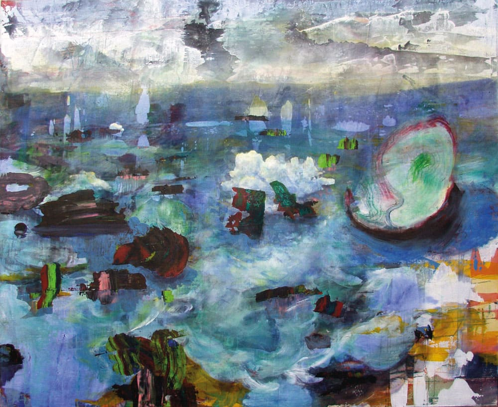 Kerstin Alexander - Treibgut 2018 Öl und Acryl auf Leinwand 190x230cm